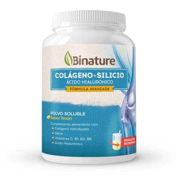 Binature colágeno con silicio y ácido hialurónico sabor limón